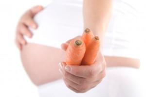 У другій половині терміну обов'язково потрібно включати в раціон продукти з високим вмістом вітаміну А