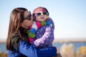 Стильна мама з дитиною