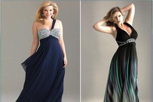 Вечерние платья для полных дам