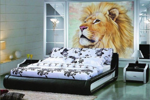 Дизайн спальні з фотошпалерами